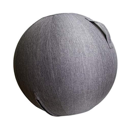 Kuinayouyi 65 cm StrapazierffHiger Leinen Yoga Ball Bezug Anti-Dirty Yoga Ball Abdeckung Balance Ball Schutz HüLle für Fitness Yoga Gym Trainieren