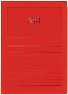 ELCO Lot de 100 Pochettes coins avec fenêtre 120 g/m2 22 x 31 Rouge 29489.92