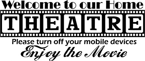 Our Theatre Vinyl Wall Decal - Large, Black