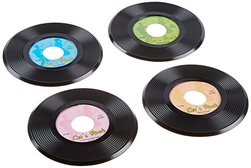 Shindigz 9 Inch Plastic Records (Package of 12)