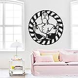 JXND Stickers muraux de Coiffeur Professionnel Salon de Coiffure décoration Salon de Coiffure Vinyle Stickers muraux barbier vitrine Affiche d'art 71x71 cm