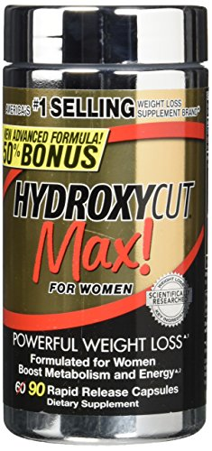 Hydroxycut Max Formulated Weight-Loss Supplement for Women, 90 Count