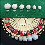 S-TROUBLE 5 uds, Bola de Ruleta Rusa, Juego de Ruleta de Casino, Bola de Repuesto, Bola Blanca acrílica, 12/14/16/18/20 / 22mm