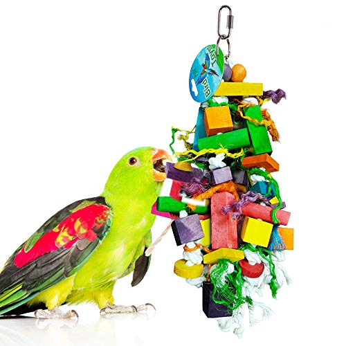 Bird Chewing Toy by SunGrow –The Perfect Parrot Toy; Aids in the Physical