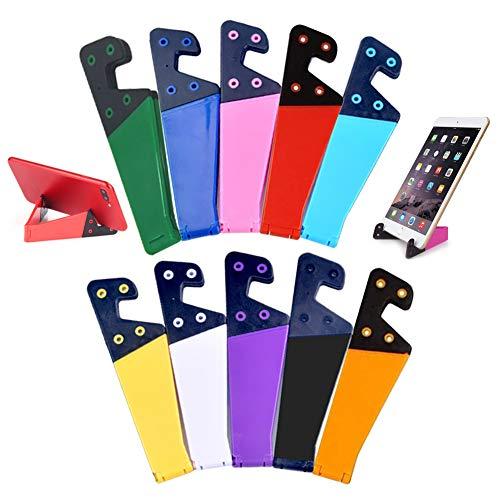 Supporto universale per telefono, 10, pieghevole, tascabile, in plastica, adatto per iPad, tablet, lettori e telefoni cellulari