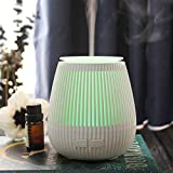 Ckeyin Difusor de Aroma Portátil, Difusor de Aceite Perfumado USB, Mini Difusor de Aromaterapia con Luz Nocturna de 7 Colores -2 Modos de Pulverización, Adecuados para el Hogar/Oficina