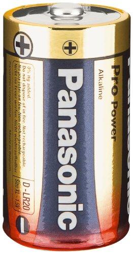 Panasonic Pro Power Alkali-Batterie (Mono D, LR20, 2er Pack)