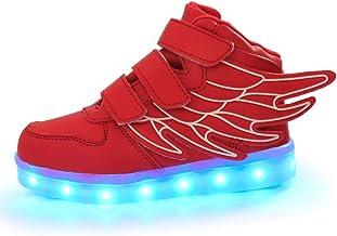 Vansney Garçon/Fille LED Chaussures de Course, 7 Types de Couleurs Variables Flash Motion LED Peuvent être chargées Via Un...