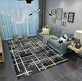 HXJHWB Alfombra Shaggy Pelo Salón Precio - Alfombra Simple de Pelo Corto Impresa en 3D Junto a la Cama del Dormitorio, Degradado Multicolor, Resistente a la Suciedad y de fácil Cuidado-El 120CMx160CM