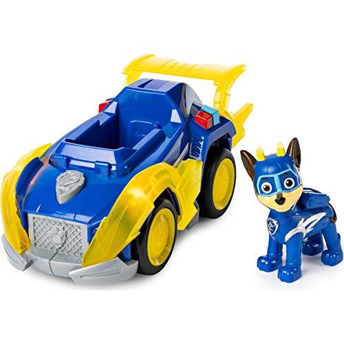 PAW Patrol Veicoli Serie Mighty Pups Super Paw, Veicolo a Sorpresa, con Luci e Suoni, dai 3 Anni, 6053026, Modelli assortiti, 1 pezzo