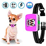 Small Dog Bark Collar Rechargeable - Anti Barking Collar For Small Dogs - Smallest Most Humane Stop Barking Collar - Dog...