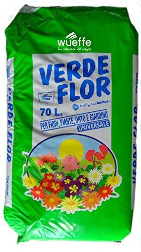WUEFFE Terriccio Universale Biologico 70% Torba - Sacchi 70 lt. - orto Fiori Piante Prato 80 (1 Sacco da lt.70)