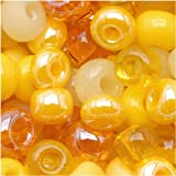 Jablonex Beads, Daffodil Yellow Lemon