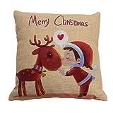 Amybria quadrato di Natale-Federa cuscino Case-Decorazione da casa dolce-Fodera per cuscino, Motif C, 45cm*45cm/18