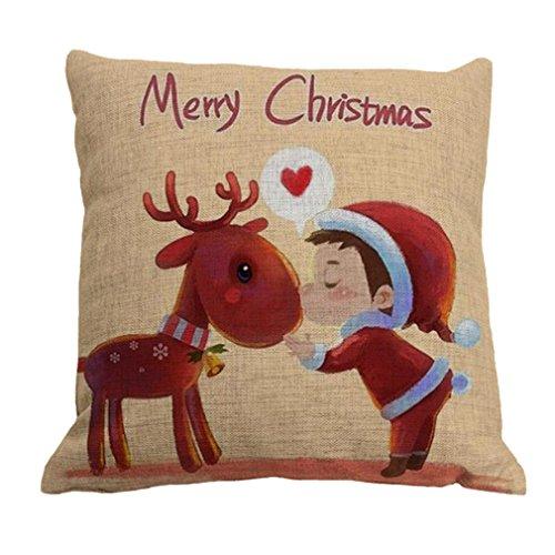 Amybria Quadrato Di Natale-Federa Cuscino Case-Decorazione Da Casa Dolce-Fodera Per Cuscino, Motif C, 45Cm*45Cm/18\