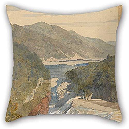 Pintura Al Óleo J. C. Richmond - Te Reinga, Caídas De La Wairoa. Funda de almohada Hawke 'S Bay, apta para piso, cocina, diván, ella, sala de estar, habitación para niños