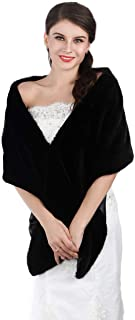 Aukmla Bridal Wraps and Shawls Fur Stole for Women and Girls.