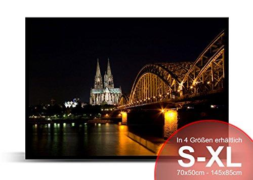 Printalio - Skyline Köln - Schmutzmatte Bodenvorleger Fussmatte Türmatte Abtreter Abstreifer gummierter Rand rutschfest waschbar individuell | 70 cm x 50 cm