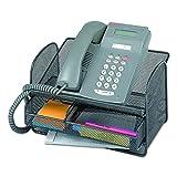 Safco 2160BL Onyx Angled Mesh Steel Telephone Stand, 11 3/4 x 9 1/4 x 7, Black...