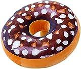 Donut Cojín de peluche Donut Cojín redondo de la espalda de donut cojín relleno almohada de peluche juguete muñeca donut alimentos cojín niños juguete