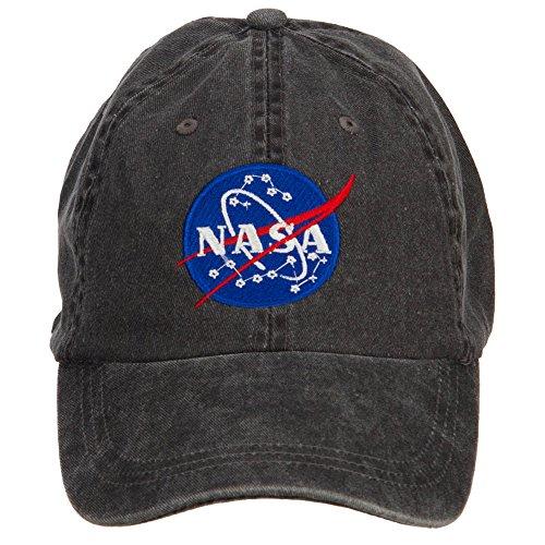 e4Hats.com NASA Insignia Embroidered Washed Cap - Black OSFM