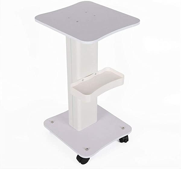 Convient Beauty Equipment Cart White Desktop Rolling Trolley Cart Small Bubble Medical Cart With Handle Storage Tray Brake
