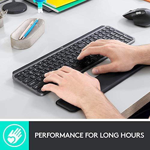 Logitech MX PALM REST per MX Keys, Supporto di Qualità Premium e Comfort Antiscivolo per Lunghe Sessioni di Digitazione, Nero