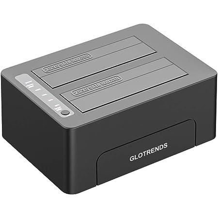 Glotrends 2 Schacht Festplattenradiergummi 2 5 Computer Zubehör