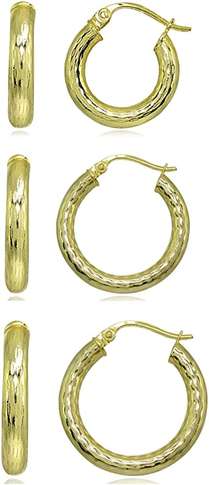 Sterling Silver 3mm Diamond-Cut Round Earri Click-Top Hoop Finally popular Japan Maker New brand Small