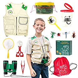 professional Yippee Toys Outdoor Set for Boys and Girls-Bug Catch Set-Premium Safari Vest, …