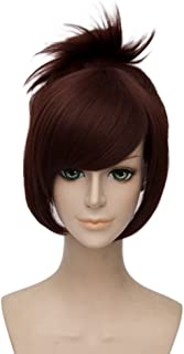 netgo Brown Cosplay Wig with Ponytail Heat Resistant Custome Halloween Wigs for Women Girls