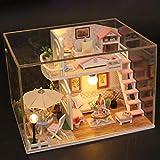 tulipes Casa de muñecas DIY Loft 3D Casa de muñecas en Miniatura de Madera con Muebles Mini-Exquisito Modelo de apartamento Kit de Bricolaje para niños de 6 años o más Welcoming
