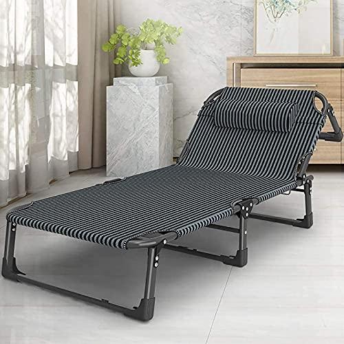 Tumbona reclinable reclinable plegable con gravedad cero, tumbona plegable de jardín, silla de camping, ajustable, para el hogar, adecuado para interiores y exteriores