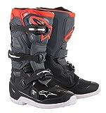 Alpinestars Unisex-Adult Youth Tech 7S Boots Grey/Red Sz 04 (Multi, 4 Big Kid)