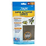 API SUPER ACTIVATED CARBON Aquarium Canister Filter Filtration Pouch 1-Count, White (729A)