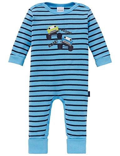 Schiesser Unisex Baby Schlafanzug Strampler Body, blau (hellblau 805), 056