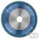 DESON Hoja de Sierra Circular de Aleación, Disco Sierra Circular, 185x30mm, 80 Dientes, con 3 Anillos Reductores