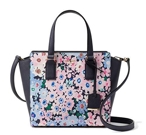 Kate Spade New York Cameron Street Daisy Garden Small Hayden Leather Satchel Bag, Navy Pink Multi