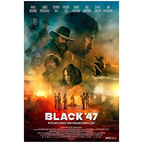 wzgsffs Black '47 Movie Lance DALY Ireland Great Famine Póster De Arte De Pared E Impresiones Impresas En Lienzo para Sala De Estar Cafe-20X30 Inchx1 Frameless