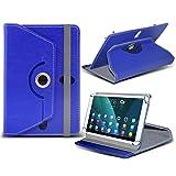 i-Tronixs (blau) NVIDIA Shield K1[20,3cm] Fall [Standfunktion] für NVIDIA Shield K1[20,3cm] Tablet PC Hülle Cover Tablet Stabiler Synthetisches PU-Leder 360° Drehbar Fall mit 4Federn