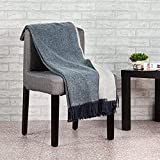 spencer & whitney Blanket Throws Wool Blanket Denim Blue Wool Throw Blanket Australian Cashmere Wool Throws Lightweight Blanket Throws for Couch