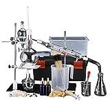 Sucastle 500ML Agua destilador Esencial destilador Aceite Kit destilación química con Condensador Pipe Flask y Calentador