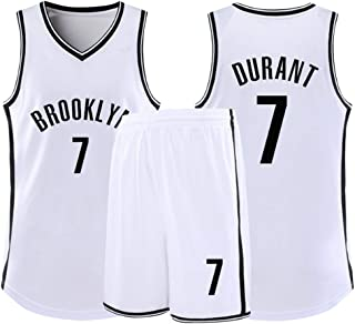 Sports Men's Jersey set,Brooklyn Nets # 7 Kevin Durant Basketball Jersey,Breathable Wearable Competition Jersey,Gift for F...