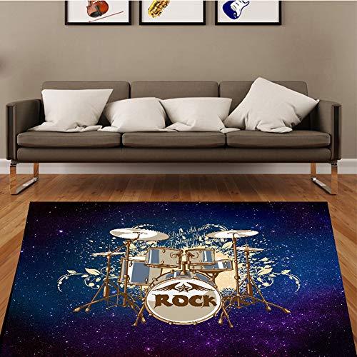 ZXHH Schlagzeugteppich Drum-Teppich Trommel Teppich Trommelmatte Drum Rug Quadratische Schallschutzdecke Antivibrationsmatten Für E-Drum-Kits Bass Drum Snare Und rutschfeste Teppiche
