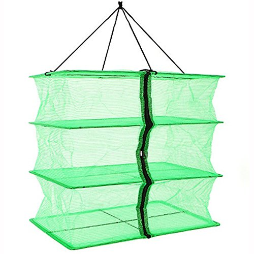 Why Choose Fish Mesh 3 Tray Hanging Drying Net Food Dehydrator for Drying Herbs ,Fruits ,Vegetables,...