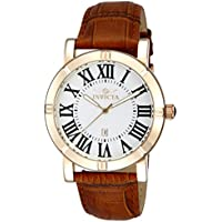 Invicta Men's Specialty 42mm Stainless Steel and Leather Strap Quartz Watch with 2 Additional Straps (Model: 13971)