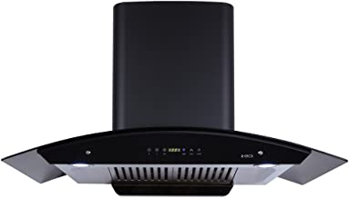 Elica 90 cm 1200 m3/hr Auto Clean Chimney (WD HAC Touch BF 90, 2 Baffle Filters, Touch Control, Black)