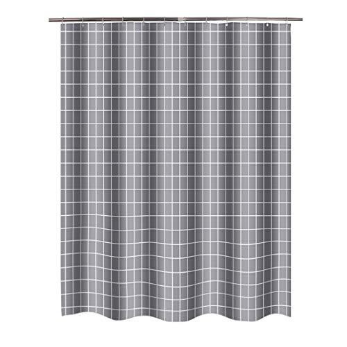 Graues Quadrat Shower Curtains aus Stoff lang groß größe größen wasserdichter Stoff ueberlaenge breiter duschvorhaenge Textil lang extra überlänge hängen Vorhang (höhe:200cm;breite:150cm)