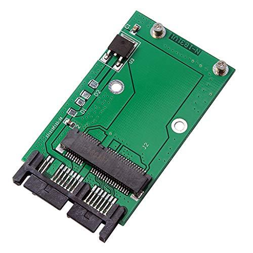 MERIGLARE -PCI-e-MSATA-SSD con Tarjeta Convertidora de Adaptador Micro-SATA de 16 Pulgadas con...
