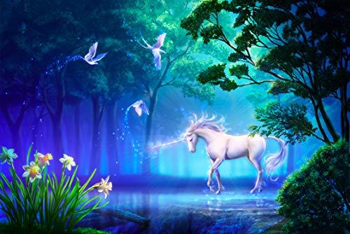 Vacio Rompecabezas para Adultos 3D Puzzle 1000 Piezas Unicornio del Bosque Rompecabeza Art DIY Ocio Juego Juguete Decoración Hogar